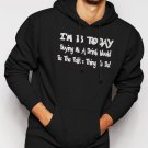 18th Birthday Funny Joke Present Novelty Gift  Men Black Hoodie Sweater