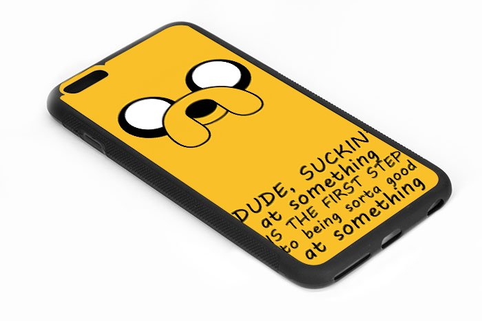 Adventure Time iPhone 6s 5.5 Inch Black Case Finn Quote