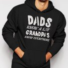 Dads Know A Lot Grandpas Know Everything Men Black Hoodie