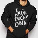 I Hate Everyone Tumbrl Hipster Geek Men Black Hoodie