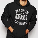 Made In 1976 - 40 Years Of Being Awesome Birthday Men Black Hoodie