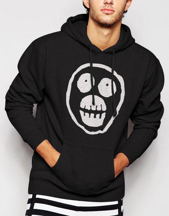 Mighty Boosh Skull Men Black Hoodie