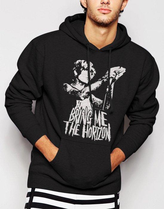 Oliver Sykes British Bring Me The Horizon Men Black Hoodie