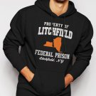 Property Of Litchfield Federal Prison NY Men Black Hoodie