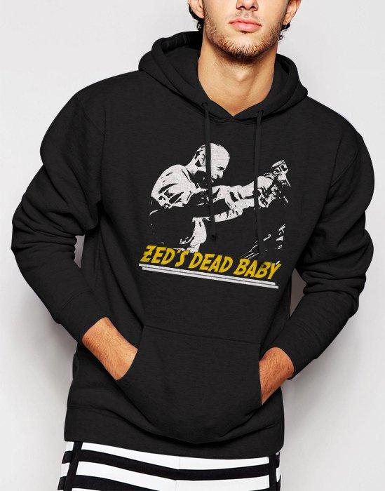 Zeds Dead Baby Pulp Fiction Quentin Tarantino Men Black Hoodie