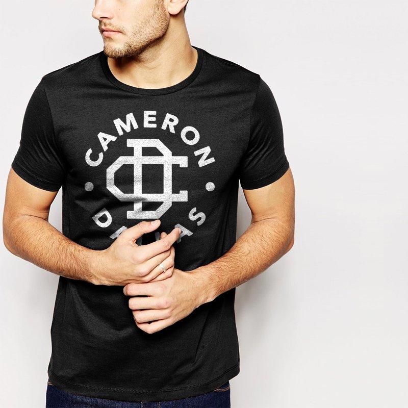 New Hot Cameron Dallas Funny Slogan Dope Black T-Shirt for Men