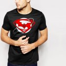 New Hot SUPERMAN vs BATMAN Inspired Down of justice Black T-Shirt for Men