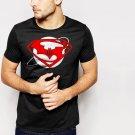 New Hot SUPERMAN vs BATMAN Inspired Down of justice Black T-Shirt for Men