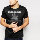 New Hot WORK HARDER BENEFITS DEPEND FUNNY Black T-Shirt for Men