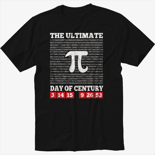 The Ultimate Day Of Pi Shirt Pi Day Shirt Math Humor 3 14 15 Black T-Shirt