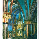 Quebec Laminated Postcard RPPC Main Altar Notre Dame Church