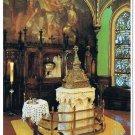 Quebec Laminated Postcard RPPC Notre Dame Basilica Baptismal Font