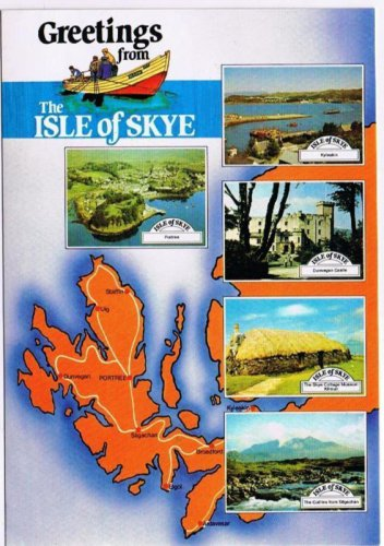 Isle of Skye Scotland Postcard Greeting From Isle of Skye Multi View