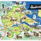 England Postcard Humberside Map Pictoral