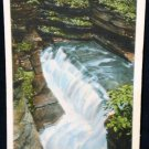 Diamond Falls Watkins Glen NY Postcard 1914