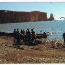 Quebec Laminated Postcard RPPC Perce Fishermen Preparing To Catch Cod