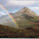 Isle of Skye Scotland Postcard Glamaig Cuillin Mountain Range Rainbow