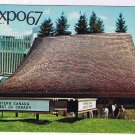Quebec Postcard Montreal Expo 67 Western Provinces Pavilion