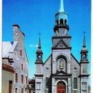 Quebec Laminated Postcard RPPC Eglise Notre Dame du Bonsecours Church