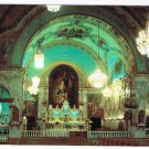 Quebec Laminated Postcard RPPC Notre Dame du Bonsecours Church Interior
