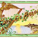 St Patrick's Day Postcard Erin Go Bragh 1909 Ireland Emerald Isle