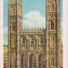 Montreal Quebec Postcard Notre Dame Church