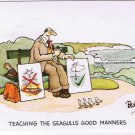 Comic England Postcard Teaching Seagulls Good Manners Besley