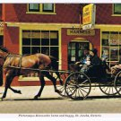 Ontario Laminated Postcard RPPC Mennonite Horse & Buggy St Jacob's