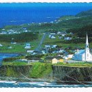 Quebec Laminated Postcard RPPC Village Grande Vallee North Gaspesia