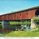 West Montrose Ontario Postcard Covered Bridge Near Kitchener