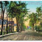 Richmond Maine Postcard Front Street Looking South Unpaved Street Houses