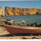 Quebec Laminated Postcard RPPC Perce Fishing Boats On The Beach