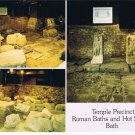 Bath England Postcard Temple Precinct Roman Baths Hot Springs