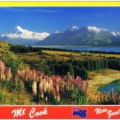 Mount Cook New Zealand Postcard Wild Lupins Lake Pukaki