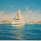 Capt Starn's Restaurant Boating Center Advert Postcard