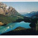Alberta Laminated Postcard RPPC Peyto Lake Banff National Park