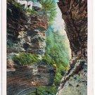 Watkins Glen New York Postcard Frowning Cliff Curteich A-52128 1913