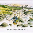 Comic Scotland Postcard Not Much Sign of Fish Yet Fisherman