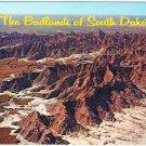 South Dakota Postcard Aerial View Badlands of South Dakota