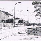 Manitoba Laminated Postcard RPPC Gillam Frontier School 1968