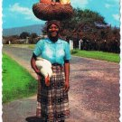 Jamaica West Indies Caribbean Postcard Woman Chicken Vegetables From Market