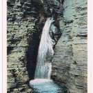 Watkins Glen New York Postcard Entrance Cascade Curteich A-52131 1913