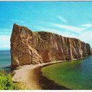 Quebec Laminated Postcard RPPC Perce Rock Gaspe Peninsula