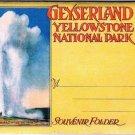 Wyoming Folder Geyserland Yellowstone National Park 20 Views 1920s Tammen Denver