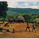 Natal Africa Postcard Zulus At Home Bantu Reserve Nagle Dam Valley of 1000 Hills