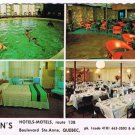 Quebec City Canada Postcard Helen's Hotels Motels Multi View