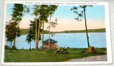 Tilden Lake Ferguson Highway Northern Ontario Postcard
