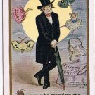 ANTIQUE Comic Westerhouse Postcard Man Knows Nothing About Women 1907
