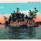 Thousand Islands New York Postcard Devil's Oven Curteich 73689-N