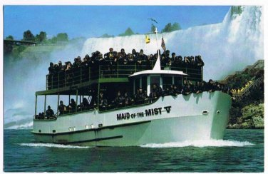 Niagara Falls Ontario Postcard Maid of the Mist V Boat Tour